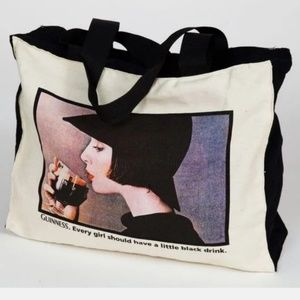 🎁 HOLIDAY SALE🎄GUINNESS CANVAS ZIPPED TOTE BAG